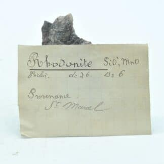 Rhodonite Marcelline, Saint-Marcel, Vallée d'Aoste, Italie.