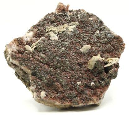 Fluorine rouge, pyrite et baryte, L'Argentolle, Saône-et-Loire.