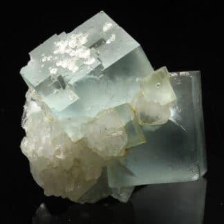 Fluorine bleue et quartz de Montroc ou Mont-Roc dans le Tarn.