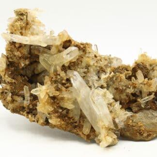 Plaque de cristaux de Quartz, mine de Vaulnaveys, Isère.