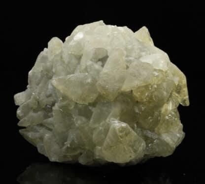 Calcite sur galène et pyrite, mine de Largentière, Ardèche.