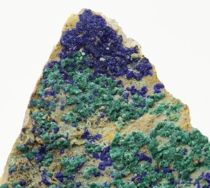 Azurite, malachite et quartz, origine Maroc.
