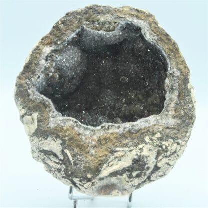Géode de Quartz et Calcite brune, Mexique.