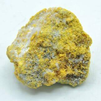 Orpiment cristallisé, Duranus, Alpes-Maritimes.