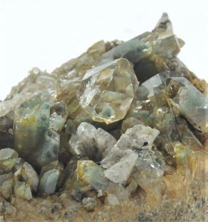 Quartz sceptre sur quartz chloriteux, Passage des Cristaux, Beaufortain, Savoie.