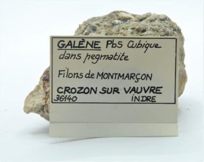 Galène, Filons de Montmarçon, Crozon-sur-Vauvre, Indre.