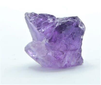 Fluorite violette fondue, carrière du Boltry, Seilles, Belgique.