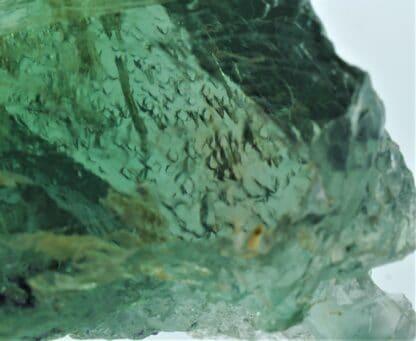 Fluorite (Fluorine) verte, carrière du Boltry, Seilles, Belgique.