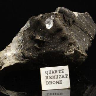 Cristal de quartz de septaria, Rémuzat, Drôme.