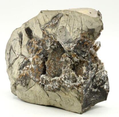 Quartz sceptré, calcite, dolomite, Orpierre, Hautes-Alpes.