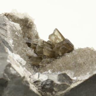 Baryte et quartz, Ribiers, Val Buëch-Méouge, Hautes-Alpes.