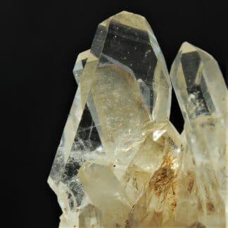 Cristal de Quartz en macle de la Gardette, Mine des Halles, Vaulnaveys, Isère.