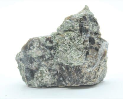 Brèche de Tuf avec ciment de Fluorine et Quartz, Marigny-sur-Yonne, Nièvre.