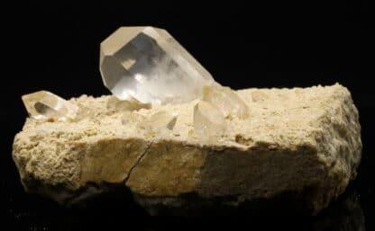 Cristaux de quartz, carrière de la Villette, Tarentaise, Savoie.