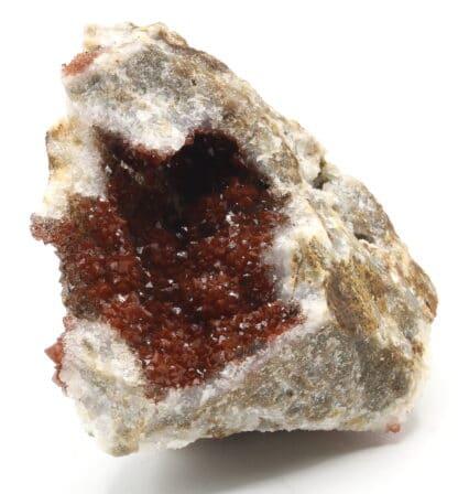 Quartz hématoïde, L'Argentolle, Saint-Prix, Saône-et-Loire, Morvan.
