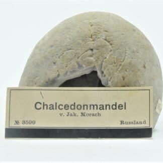 Géode de Calcédoine, Russie, Collection du Musée Bally en Suisse.