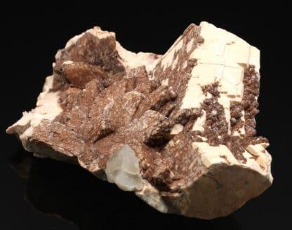 Orthose (orthoclase) et quartz, Coustouges, Pyrénées-Orientales.