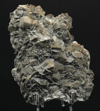 Pyrite sur calcite, mine de Salsigne, Mas Cabardès, Aude.