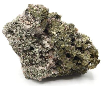 Chalcopyrite, pyrite sur quartz, Le Burc, Tarn.