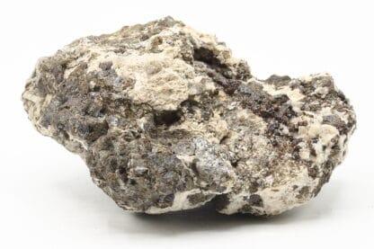Sphalérite et galène dans calcite, Mine de Beauraing, Namur, Belgique.