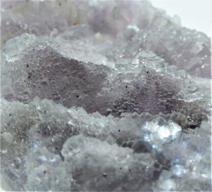 Fluorine mauve (Fluorite) en pyramide aztèque, Mine de Fontsante, Var.