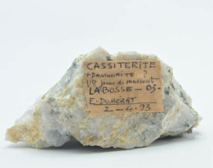 Cassitérite et Lépidolite, Carrière de Beauvoir, La Bosse, Allier.