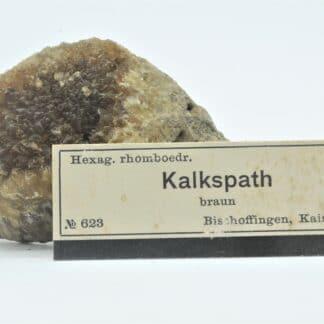 Calcite jaune, Bischoffingen, Kaiserstuhl, Allemagne.