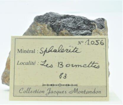 Blende (Sphalérite), Les Bormettes, La Londe-les-Maures, Var.