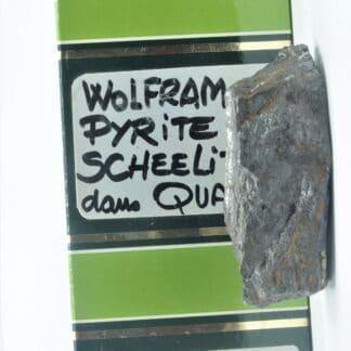 Wolfram, Pyrite et Scheelite, Leucamp, Cantal.