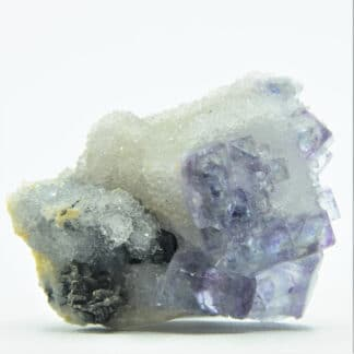 Pyrrhotine (Pyrrhotite), Fluorite et Quartz, Mine de Fontsante, Var.