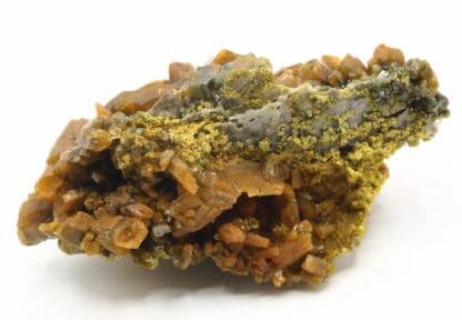Pyromorphite vert brun, mine des Farges, Ussel, Corrèze.