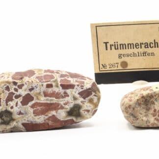 Agate polie (trümmerachat geschliffen), ex collection Museum Bally-Prior.