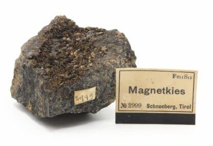 Pyrrhotite (magnetkies), Schneeberg, Erzgebirgskreis, Saxe, Allemagne.