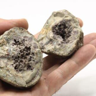 Géodes de quartz, Mandel, La Chaise-Dieu, Haute-Loire.