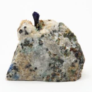Cristal d'Azurite et quartz, Le-Mas-Dieu, Laval-Pradel, Gard.