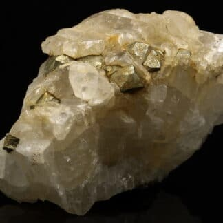 Calcite et Pyrite, mine de fer de Joudreville (Piennes), Meurthe-et-Moselle.