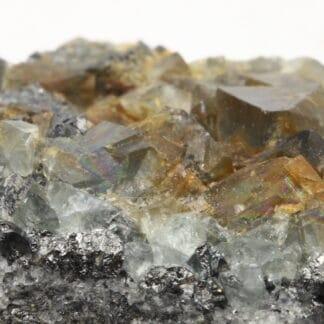 Bournonite et fluorine, Marsanges, Langeac, Haute-Loire.