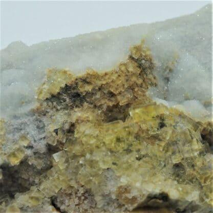 Quartz et Fluorite (Fluorine), Mine de La Barre, Puy-de-Dôme, Auvergne.