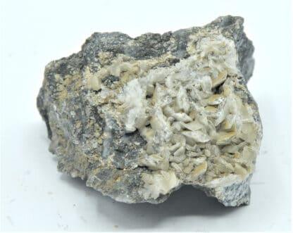 Calcite sur Arsénopyrite, Giat, Puy-de-Dôme, Auvergne.
