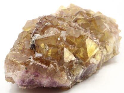 Fluorite violette et jaune, mine de Fontsante, Var.