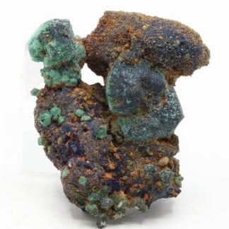 Cuprite pseudomorphose de malachite et azurite, Chessy, Rhône.
