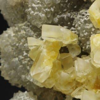 Baryte, Quartz et Fluorite, La Dreyt, près de Langeac, Haute-Loire.