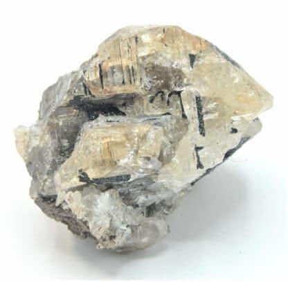 Mottramite sur Cérusite, M'Fouati, Congo, Afrique.