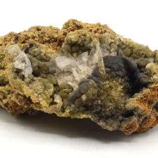 Mimétite, Wulfénite, Cérusite, mine d'Ojouela, Mexique.