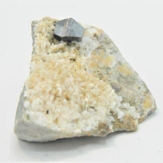 Grand cristal d'Anatase, et Albite, Pakistan.