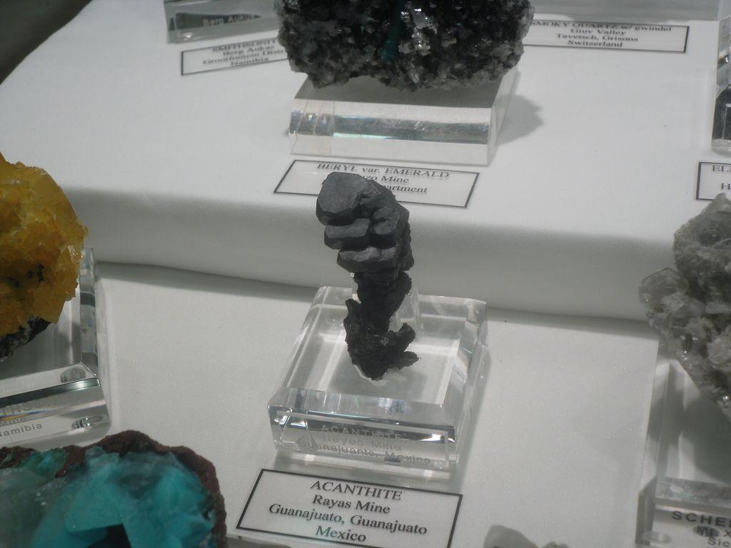 Acanthite, Rayas Mine at Guanajuato, Mexico.
