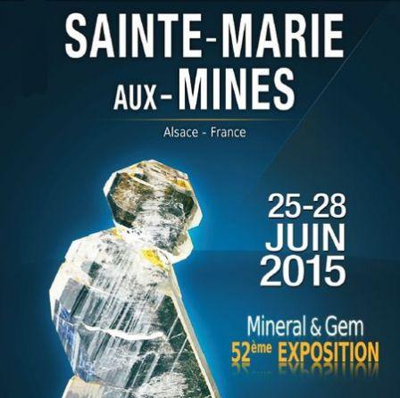 Bourse minéraux Sainte-Marie-aux-Mines 2015.