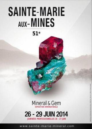 Bourse aux minéraux de Sainte Marie aux Mines.